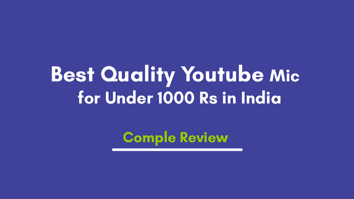 Best Quality Youtube Collar Mic for Under 1000 Rs