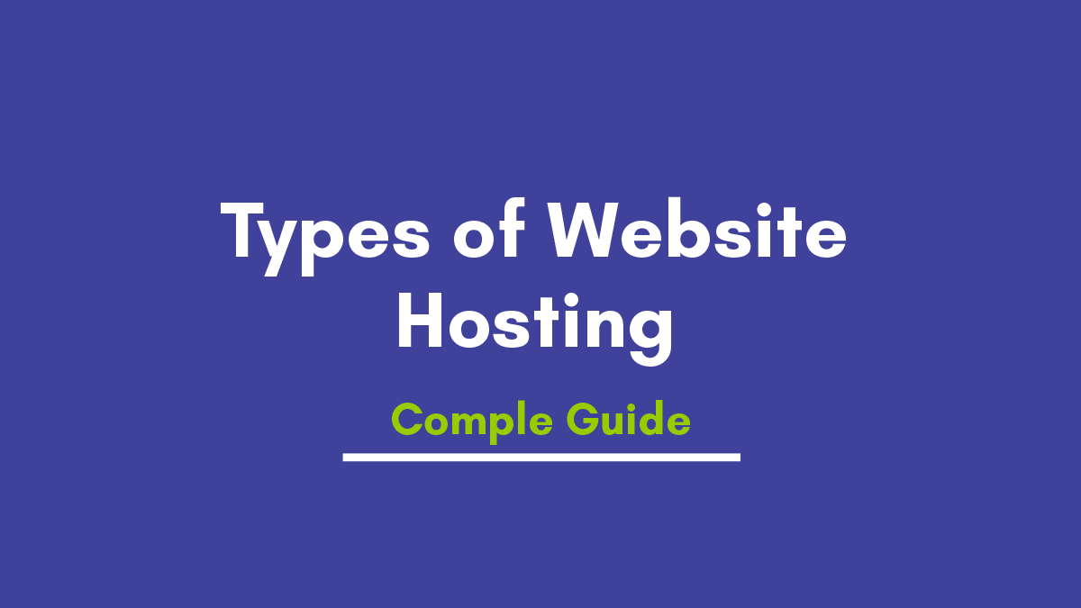 You Should Know Different Types of  Web Hosting Before Buy