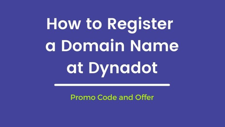How to Register a Domain Name at Dynadot Dynadot Promo Code