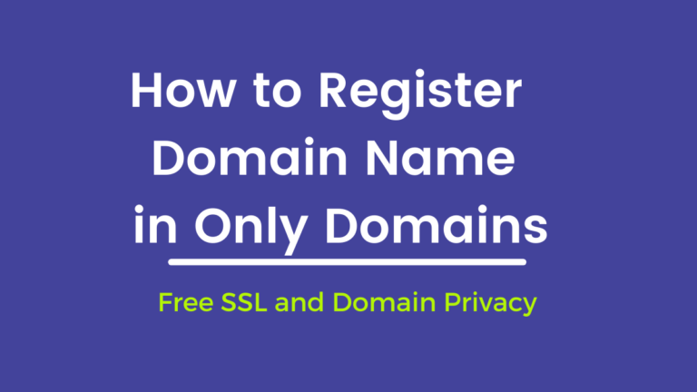 How To Buy .Com Domain name with OnlyDomains –